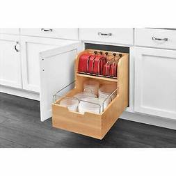 "Rev-A-Shelf Food Storage Container Pull Out For 18"" Base Ca"