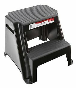 Rubbermaid RM-P2 2-Step Molded Plastic Stool with Non-Slip S