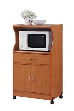 Rolling-Microwave-Cart-Wood-Kitchen-Island-Portable-Storage-