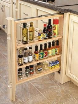"Rev-A-Shelf 432-BF-3C 3"" Wood Base Cabinet Pullout Filler Or"