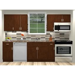 Lily Ann Cabinets RTA 10 Foot Run Birch Wood Kitchen Cabinet