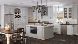 RTA All Wood 10X10 Torrance Dove Kitchen Cabinets Taupe Ligh
