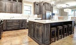 Rustic Shaker Grey Kitchen Cabinets-Sample door-RTA-All wood