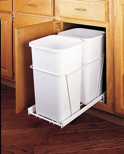 Rev-A-Shelf RV-15PB-2 S Double 27 Qt. Pullout Waste Containe