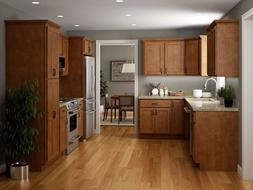 Salem Brown Collection JSI 10x10 kitchen cabinets, Kitchen F