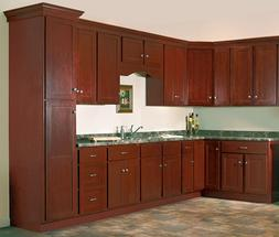 Salem Cherry Collection JSI10x10 kitchen cabinets, Kitchen F