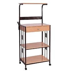 Shelf Rack Storage Microwave Stand Shelves Trolley Cart Bake
