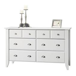 Sauder Shoal Creek Dresser, Soft White With Bright Metal Kno