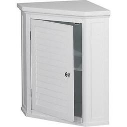 Elegant Home Fashions Sicily Corner Wall Cabinet With 1 Shut