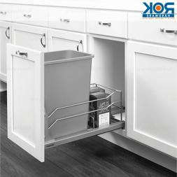 Silver Undermount Soft Close Pull out Kitchen Cabinet Trash