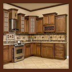 10x10 All Solid Wood KITCHEN CABINETS GENEVA RTA