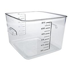 Square Storage Container Clear 12 Qt.
