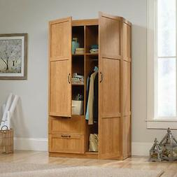 Sauder Large Storage Cabinet, Highland Oak