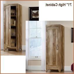 Tall Kitchen Cabinets Storage Rustic Wood Oak Pantry Armoire