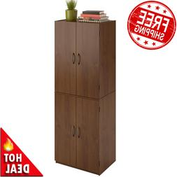 Tall Storage Cabinet Kitchen Pantry Cupboard Organizer Furni