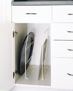 Rev-a-Shelf Rev-a-Shelf Tray Divider with Clips, White, Meta