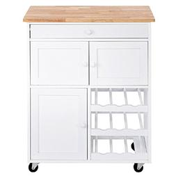 Trolley Drawers Shelf Island Storage Cart Kitchen Rolling Ca