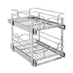 Rev-A-Shelf Under Cabinet Pull Out 2-Tier Wire Basket Pot Pa