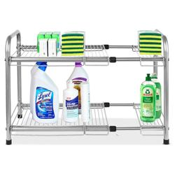 under sink expandable cabinet organizer storage rack