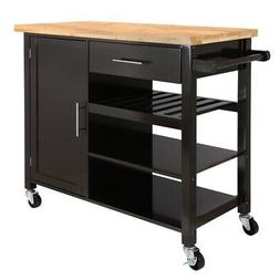 Homegear Utility V3 Kitchen Cart with Storage Cabinet Island