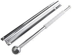 Rev-A-Shelf Standard Valet Rod 12in Chrome Tie Rack, New