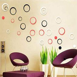 SeedWorld Wall Stickers - 5Pcs/Set Acrylic Polka Circles Wal