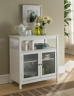 white finish wood kitchen storage