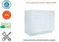 White Shaker Kitchen Sink Base Cabinet