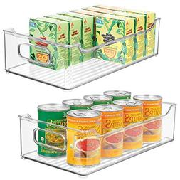 mDesign Wide Stackable Plastic Kitchen Pantry Cabinet, Refri