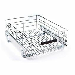 Seville Classics Pull-Out Sliding Steel Wire Cabinet Organiz