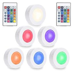 SOLLED Wireless LED Puck Lights, RGBW Color Changing Kitchen