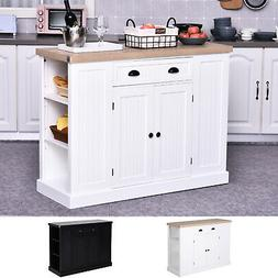 Wooden Kitchen Island Storage Cabinet with Drawer Shelving